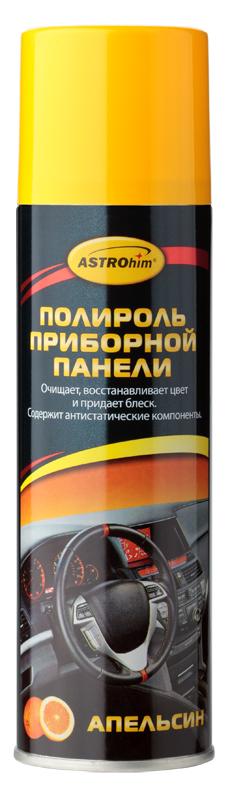 Полироль приборной панели ASTROhim Апельсин, 335 млАС-2338Полироль приборной панели ASTROhim не только сохранит первоначальный вид пластика надолго, но и защитит от факторов, влияющих на его старение, таких как перепады температур и ультрафиолетовое излучение. Особенности: - Эффективно очищает и полирует элементы интерьера автомобиля из пластика, винила, резины и кожзаменителя. - Придает эффектный глянцевый блеск. - Образует на поверхности тонкую полимерную пленку, которая защищает от разрушительного действия ультрафиолетового излучения, предотвращает выгорание и растрескивание пластика. - Восстанавливает цвет пластиковой отделки. - Предотвращает притягивание пыли к приборной панели, так как содержит антистатические компоненты. - Не оставляет жирной и липкой пленки. - Обладает приятным ароматом. - Не содержит спирт, поэтому безопасен для всех видов пластика. Товар сертифицирован.