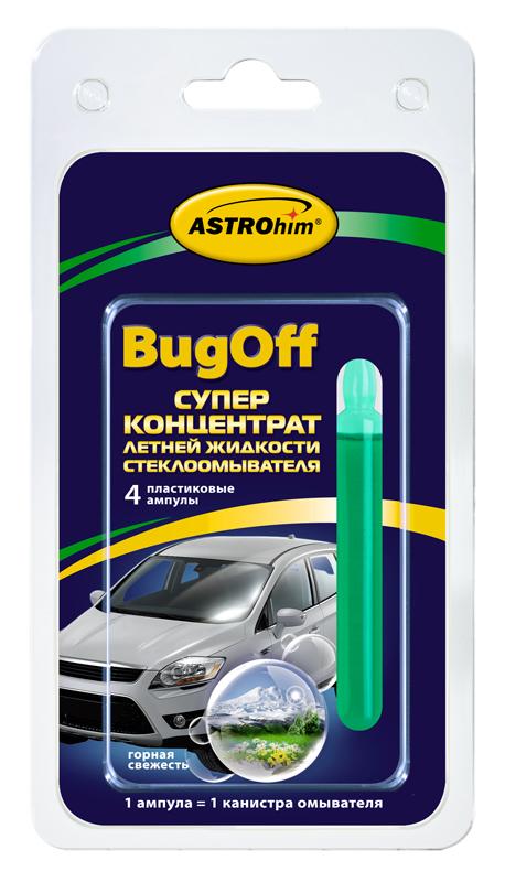 Суперконцентрат летней жидкости стеклоомывателя Astrohim BugOff. Горная свежесть. АС-4113АС-4113Суперконцентрат летней жидкости стеклоомывателя Astrohim Ас-4113 BugOff горная свежесть