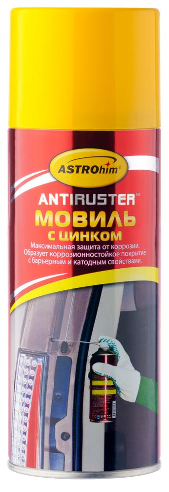 Мовиль ASTROhim, с цинком, 520 млАС-4805Мовиль ASTROhim обеспечивает скрытым полостям двойную антикоррозионную защиту благодаря содержащемуся в составе цинку. Защищает от возникновения очагов электрохимической коррозии. Создает гелеобразное эластичное покрытие, стабильное в широком интервале рабочих температур - не стекает с вертикальных поверхностей при нагревании и не растрескивается при перепадах температур. После высыхания образует нелипкую полутвердую пленку. Наносится как на влажную, так и на ржавую поверхность, а также на старые антикоррозионные покрытия. Сохраняет высокие защитные антикоррозионные свойства в течение всего времени эксплуатации автомобиля. Товар сертифицирован.