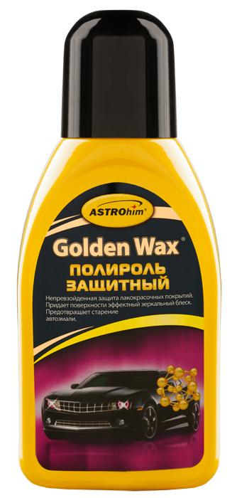 Полироль защитный ASTROhim Golden Wax, 250 млАС-770Полироль защитный ASTROhim Golden Wax предназначен специально для защиты новых лакокрасочных покрытий, в том числе типа металлик, а также предварительно обработанных абразивами поверхностей. Благодаря высококачественным натуральным воскам обеспечивает интенсивную долговременную и надежную защиту от агрессивного воздействия погодных условий. Придает лакокрасочному покрытию зеркальный, стойкий глянец, а также грязе- и водоотталкивающие свойства. Защищает лакокрасочное покрытие от разрушительного действия кислотных осадков, дорожных реагентов, ультрафиолетовых лучей и профессиональной химии, применяемой на автомойках. Товар сертифицирован.