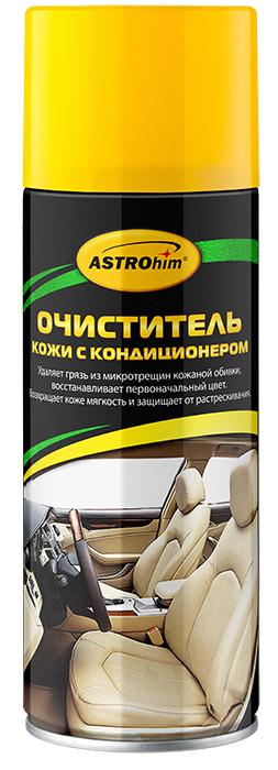 Очиститель кожи ASTROhim, с кондиционером, 520 млАС-8555Очиститель кожи ASTROhim эффективно очищает загрязнения, в том числе из микротрещин кожаной обивки, значительно обновляя ее внешний вид. Содержит специальные поверхностно-активные вещества, которые позволяют удалять даже старые загрязнения, не повреждая при этом естественную структуру кожи. Возвращает кожаной обивке мягкость и эластичность, защищает от сухости, растрескивания и выгорания за счет содержания в составе кондиционирующих добавок. Придает обивке ухоженный внешний вид и шелковистый блеск. Образует на поверхности защитный барьерный слой, благодаря которому поверхность приобретает грязеотталкивающие свойства и меньше загрязняется. Быстро впитывается и не оставляет жирных следов, на сиденья можно садиться практически сразу после очистки, не боясь того, что испачкается одежда. Может использоваться для очистки мотоциклетного снаряжения, а также в бытовых целях, например, для ухода за кожаной мебелью, аксессуарами и одеждой. Подходит для поверхностей из...