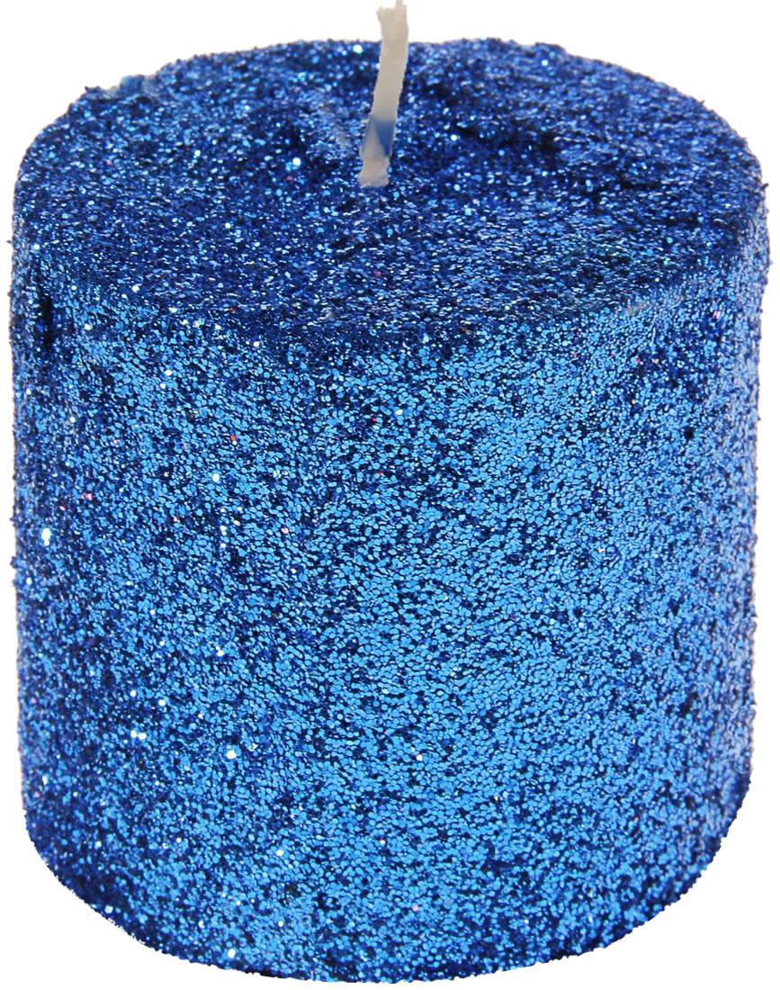 Свеча декоративная Sima-land Столбик, цвет: синий, высота 5 см. 296061296061Декоративная свеча Sima-land Столбик изготовлена из воска и украшена множеством блесток. Изделие отличается оригинальным дизайном. Свеча Sima-land Столбик - это прекрасный выбор для тех, кто хочет сделать запоминающийся презент родным и близким. Она поможет создать атмосферу праздника. Такой подарок запомнится надолго.