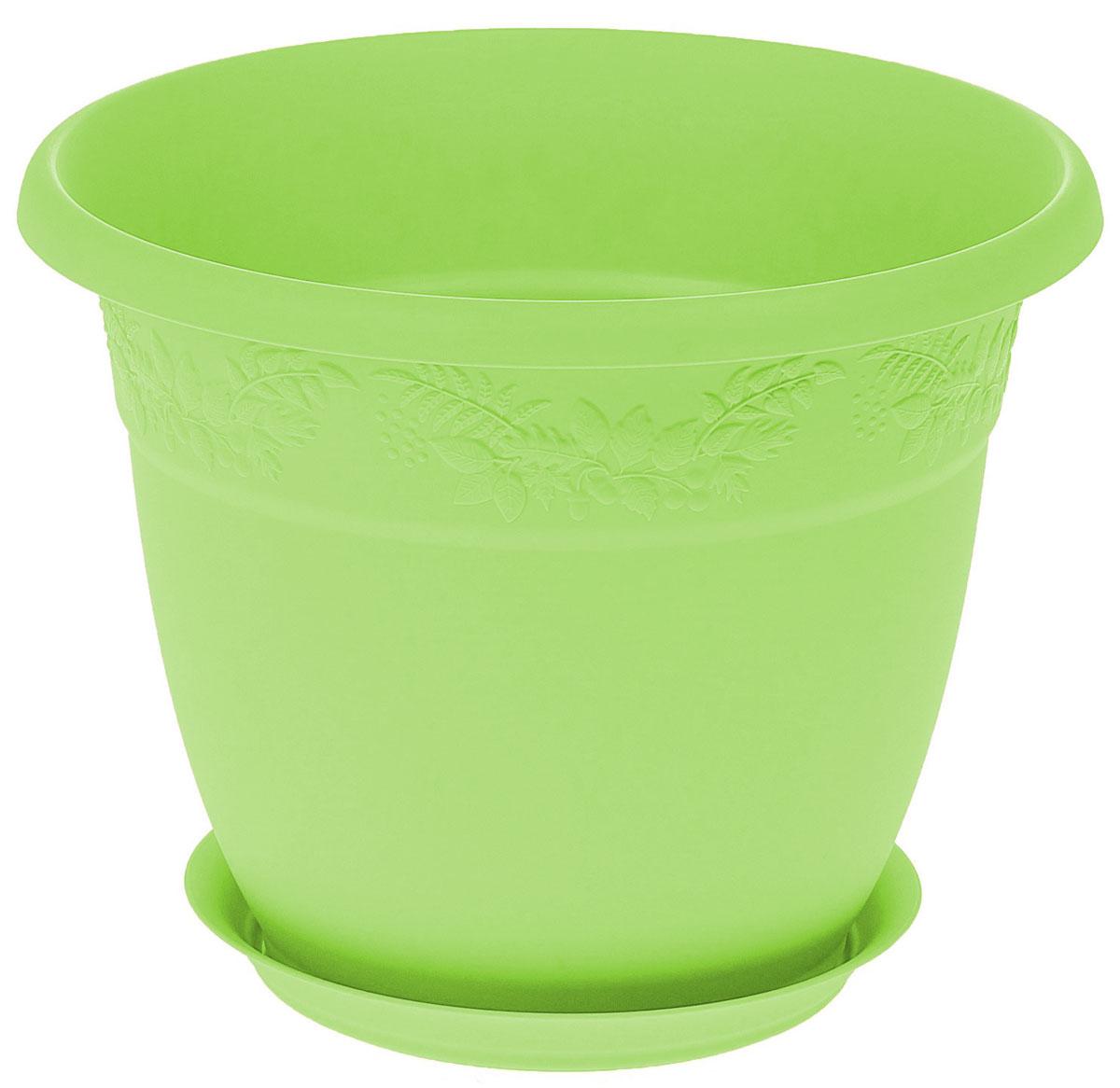 Кашпо Idea Рябина, с поддоном, цвет: мята, 3,6 лМ 3055Кашпо Idea Рябина изготовлено из высококачественного полипропилена (пластика). Специальный поддон предназначен для стока воды. Изделие прекрасно подходит для выращивания растений и цветов в домашних условиях. Лаконичный дизайн впишется в интерьер любого помещения. Диаметр поддона: 15 см. Объем кашпо: 3,6 л. Диаметр кашпо по верхнему краю: 22 см. Высота кашпо: 17,5 см.