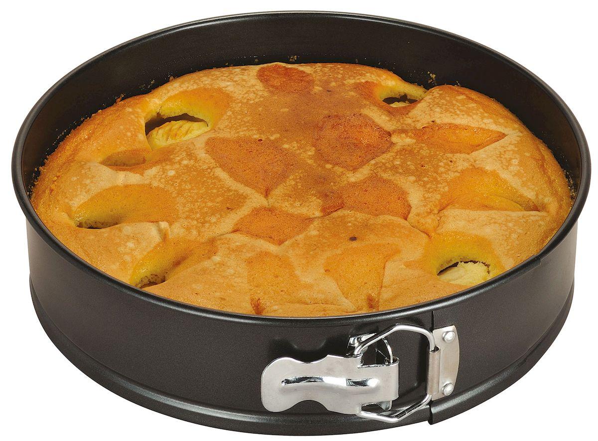 Форма для выпечки Axentia, круглая, с антипригарным покрытием, диаметр 26 см116693Круглая форма для выпечки Axentia выполнена из стали с антипригарным покрытием, что предотвращает прилипание пищи к стенкам. Форма имеет разъемный механизм, благодаря чему готовое блюдо очень легко достать из формы. Причем блюдо можно не перекладывать в сервировочную тарелку, а сразу подавать на стол. Такая форма значительно экономит время по сравнению с аналогичными формами для выпечки. С формой для выпечки Axentia готовить любимые блюда станет еще проще. Подходит для использования в духовом шкафу. Не предназначена для СВЧ-печей. Диаметр формы: 26 см. Высота стенки: 6,5 см.