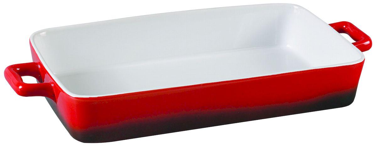 Форма для запекания Axentia, прямоугольная, 40 х 19 см124172Прямоугольная форма для запекания Axentia выполнена из керамики с фаянсовым покрытием, что обеспечивает оптимальное распределение тепла. Изделие оснащено удобными ручками. Пригодна для использования в микроволновых печах, морозильных камерах, духовках и для мытья в посудомоечной машине. Размер формы (по верхнему краю): 40 см х 19 см. Высота стенки: 6 см.