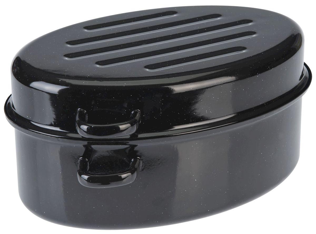 Утятница Axentia с крышкой, с эмалированным покрытием, 10,5 л220433Утятница Axentia, изготовленный из стали, идеально подходит для приготовления вкусных тушеных блюд. Она имеет внутреннее высококачественное твердое эмалевое покрытие. Утятница оснащена двумя удобными ручками и крышкой, которая плотно прилегает к краю, сохраняя аромат блюд. Идеально для нежной жарки, варки и тушения с низком содержанием жира для приготовления гусей, курицы, утки. Изделие оснащено специальным покрытием для легкой очистки. Подходит для всех типов плит, включая индукционные. Можно использовать в духовом шкафу. Можно мыть в посудомоечной машине.