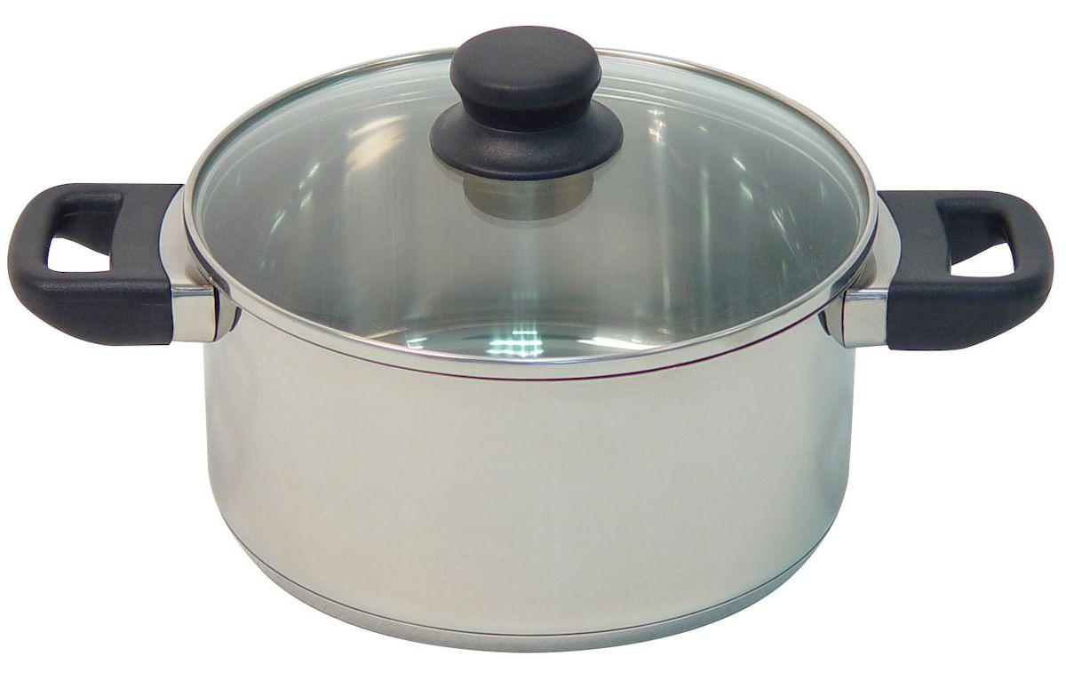 Кастрюля Axentia Alsass с крышкой, 1,3 л221001Кастрюля Axentia Alsass выполнена из двухкомпонентной стали, алюминия и нержавеющей стали. Кастрюля оснащена удобными ненагревающимися ручками из термопластика. В комплекте - жаропрочная стеклянная крышка с пароотводом и ободом из нержавеющей стали. Подходит для всех типов плит и варочных панелей, в том числе индукционных. Можно мыть в посудомоечной машине. Диаметр кастрюли (по верхнему краю): 16 см.