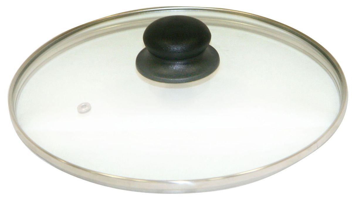 Крышка Axentia. Диаметр 24 см222223Крышка Axentia изготовлена из жаропрочного стекла. Она оснащена отверстием для выпуска пара, ободом из нержавеющей стали и пластиковой ручкой. Окантовка предохраняет от механических повреждений. Изделие удобно в использовании и позволяет контролировать процесс приготовления пищи.
