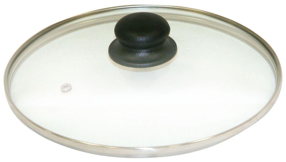 Крышка Axentia. Диаметр 28 см222224Крышка Axentia изготовлена из жаропрочного стекла. Она оснащена отверстием для выпуска пара, ободом из нержавеющей стали и пластиковой ручкой. Окантовка предохраняет от механических повреждений. Изделие удобно в использовании и позволяет контролировать процесс приготовления пищи.