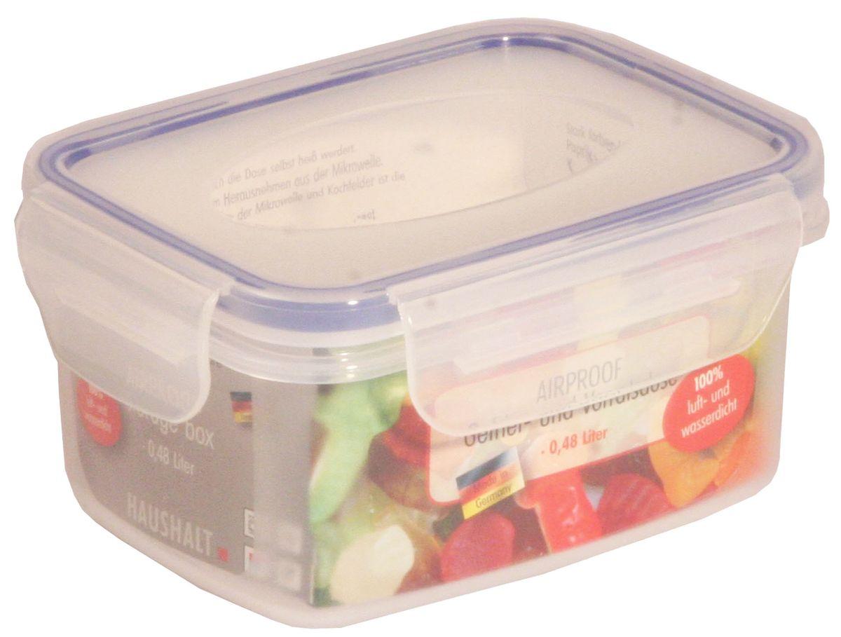 Контейнер Axentia, 480 мл230700Пищевой контейнер Axentia изготовлен из высококачественного пластика. Герметичная крышка с уплотнителем надежно закрывается на защелки, и продукты дольше остаются свежими. Подходит для мытья в посудомоечной машине, хранения в холодильных и морозильных камерах, использования в СВЧ-печах. Выдерживает резкий перепад температур.
