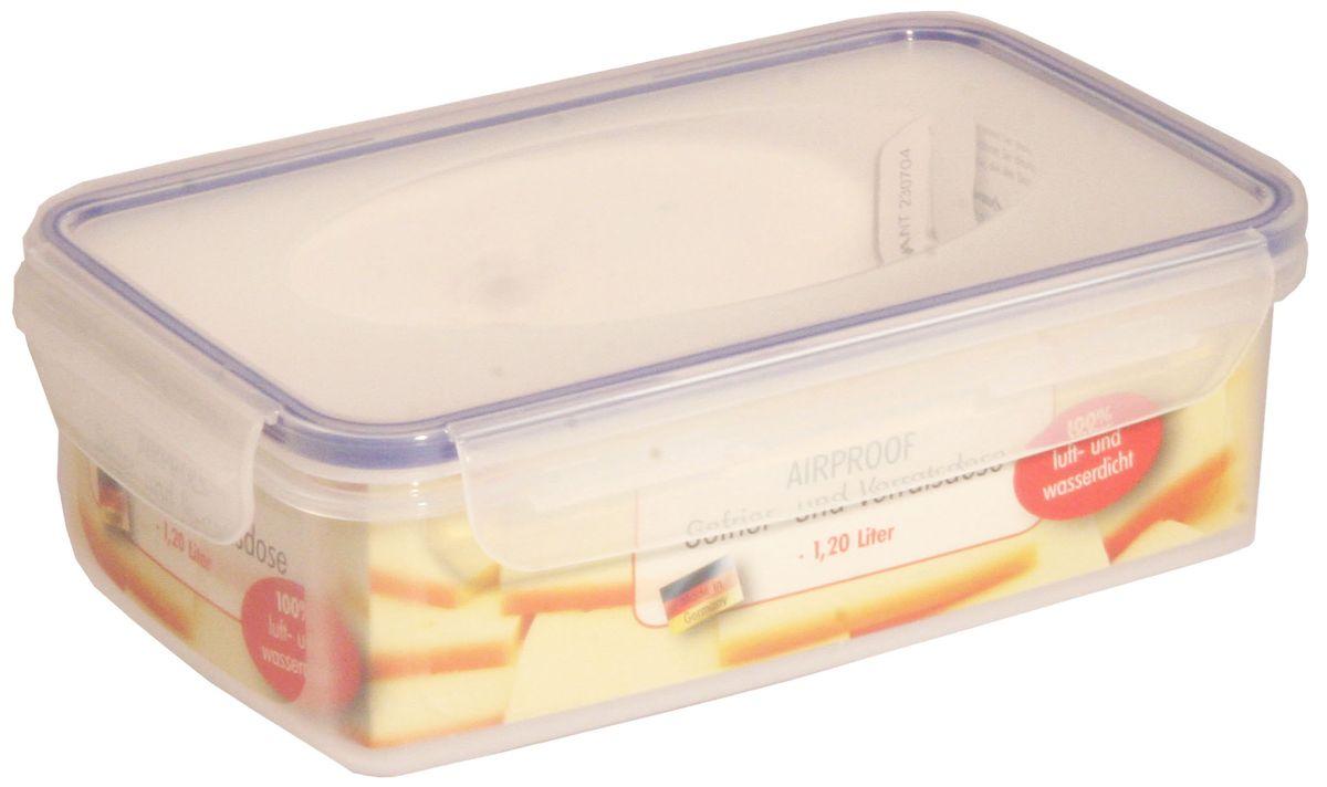 Контейнер Axentia, 1,2 л230704Пищевой контейнер Axentia изготовлен из высококачественного пластика. Герметичная крышка с уплотнителем надежно закрывается на защелки, и продукты дольше остаются свежими. Подходит для мытья в посудомоечной машине, хранения в холодильных и морозильных камерах, использования в СВЧ-печах. Выдерживает резкий перепад температур.