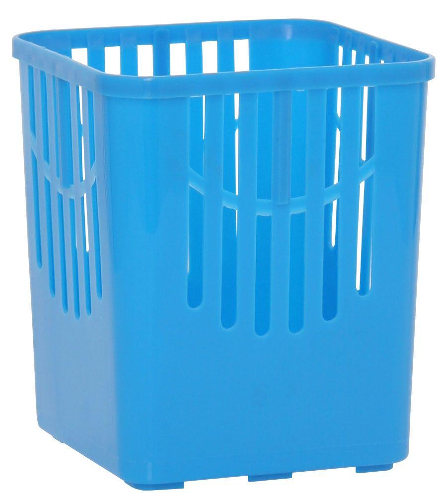 Подставка для столовых приборов Axentia, цвет: синий, 10,5 х 10,5 х 12,5 см232039Подставка для столовых приборов Axentia, выполненная из высококачественного пластика, станет полезным приобретением для вашей кухни. Она хорошо впишется в интерьер, не займет много места, а столовые приборы будут всегда под рукой. Размер подставки: 10,5 х 10,5 х 12,5 см.