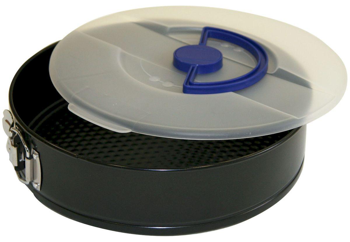 Форма для выпечки Axentia с крышкой, круглая, с антипригарным покрытием, диаметр 26 см253818Круглая форма для выпечки Axentia выполнена из стали с антипригарным покрытием, что предотвращает прилипание пищи к стенкам. Форма имеет разъемный механизм, благодаря чему готовое блюдо очень легко достать из формы. Причем блюдо можно не перекладывать в сервировочную тарелку, а сразу подавать на стол. Такая форма значительно экономит время по сравнению с аналогичными формами для выпечки. Также изделие оснащено пластиковой крышкой. С формой для выпечки Axentia готовить любимые блюда станет еще проще. Подходит для использования в духовом шкафу. Не предназначена для СВЧ-печей. Диаметр формы: 26 см. Высота стенки: 7 см.