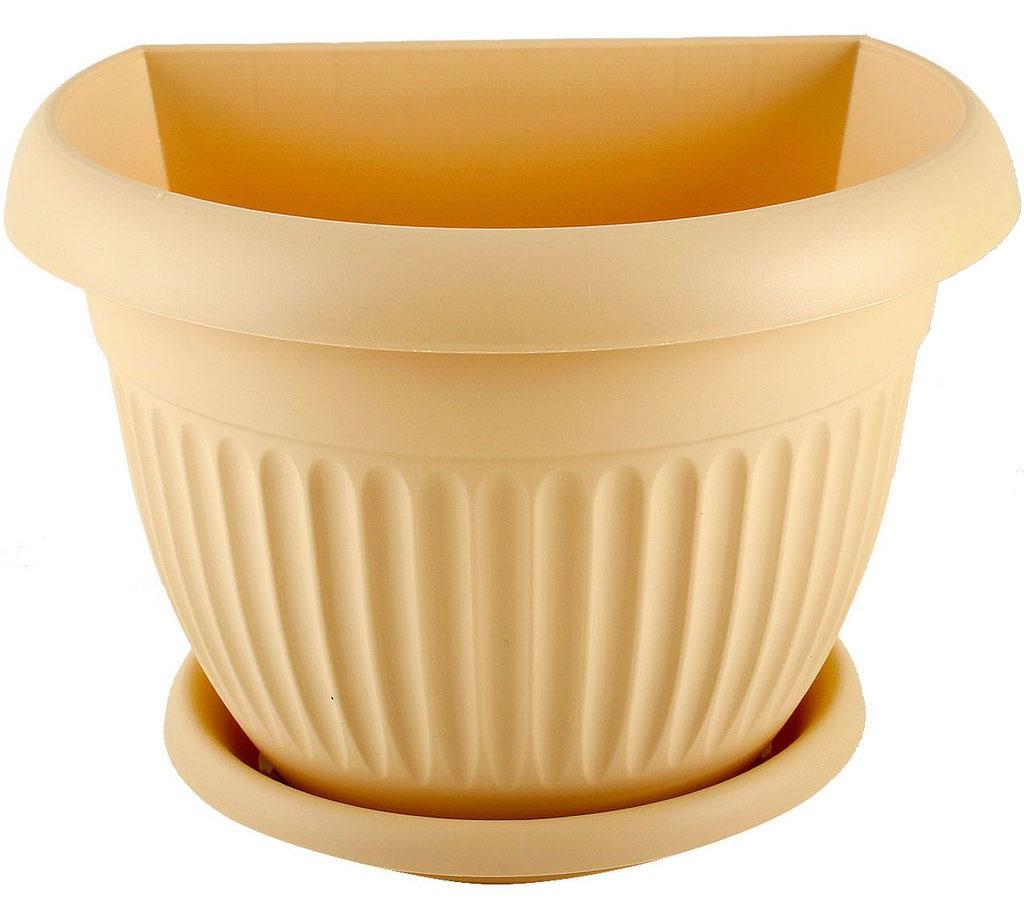 Кашпо настенное Idea Ливия, цвет: белая глина, диаметр 25,5 смМ 3112Настенное кашпо Idea Ливия изготовлено из прочного полипропилена (пластика). Снабжено поддоном для стока воды. Изделие прекрасно подходит для выращивания растений и цветов в домашних условиях. Крепится к стене при помощи двух шурупов (в комплект не входят). Стильный лаконичный дизайн впишется в интерьер любого помещения.