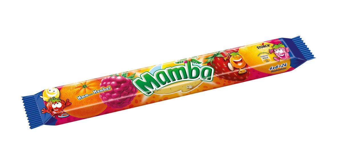 Mamba Жевательная конфета, 106 г110975Откройте для себя насыщенные фруктовые вкусы конфет Мамба и подружитесь с веселыми и жизнерадостными обитателями острова Мамба!
