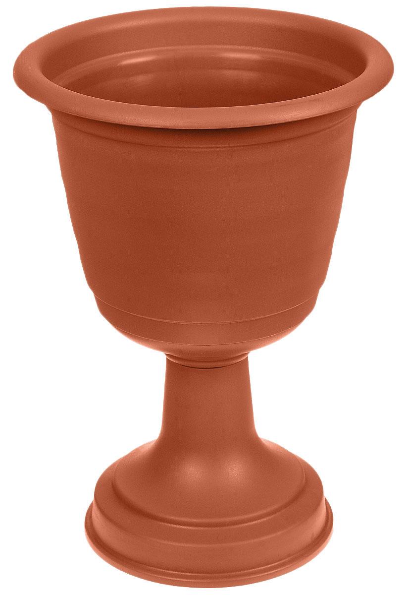 Вазон Idea Ламела, цвет: терракотовый, высота 43,5 смМ 8528Вазон Idea Ламела изготовлен из высококачественного полипропилена. Верхняя часть съемная. Благодаря устойчивому широкому основанию вазон не упадет. Такой вазон прекрасно подойдет для выращивания растений и цветов в домашних условиях. Классический дизайн впишется в любой интерьер. Диаметр (по верхнему краю): 31 см. Высота: 43,5 см. Диаметр основания: 22 см.