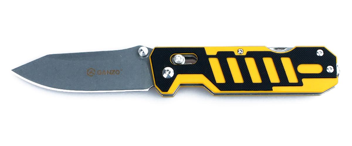 """Нож туристический """"Ganzo"""", цвет: черно-желтый. G735"""