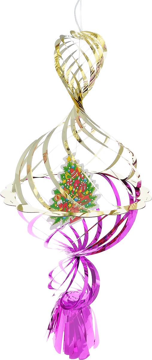 Украшение новогоднее подвесное Winter Wings Елочка, цвет: фиолетовый, золотистый, 40 х 20 х 20 смN09176Новогоднее украшение Winter Wings Елочка прекрасно подойдет для декора дома и праздничной елки. Изделие выполнено из ПВХ. С помощью специальной петельки украшение можно повесить в любом понравившемся вам месте. Легко складывается и раскладывается. Новогодние украшения несут в себе волшебство и красоту праздника. Они помогут вам украсить дом к предстоящим праздникам и оживить интерьер по вашему вкусу. Создайте в доме атмосферу тепла, веселья и радости, украшая его всей семьей.