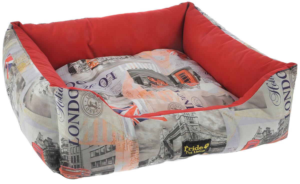 Лежак для животных Pride Лондон, 70 х 60 х 23 см10012262Лежак для животных Pride Лондон прекрасно подойдет для отдыха вашего домашнего питомца. Предназначен для собак средних пород и кошек. Изделие выполнено из прочных материалов высшего качества. Лежак оснащен съемным матрасиком. Комфортный и уютный лежак обязательно понравится вашему питомцу, животное сможет там отдохнуть и выспаться. Размер лежака: 70 х 60 х 23 см. Состав: полиэстер. Наполнитель: 100% холлофайбер.