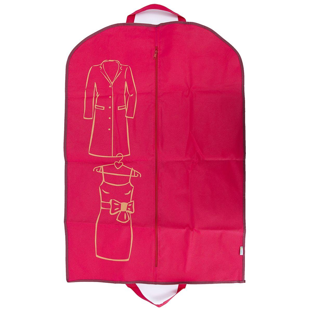Чехол для одежды Homsu Lady in Red, 90 х 60 смHOM-656Удобный чехол для хранения и перевозки одежды. Изготовлен из высококачественного материала, поможет полноценно сберечь вашу одежду, как в домашнем хранении, так и во время транспортировки. Размер изделия:90x60см.