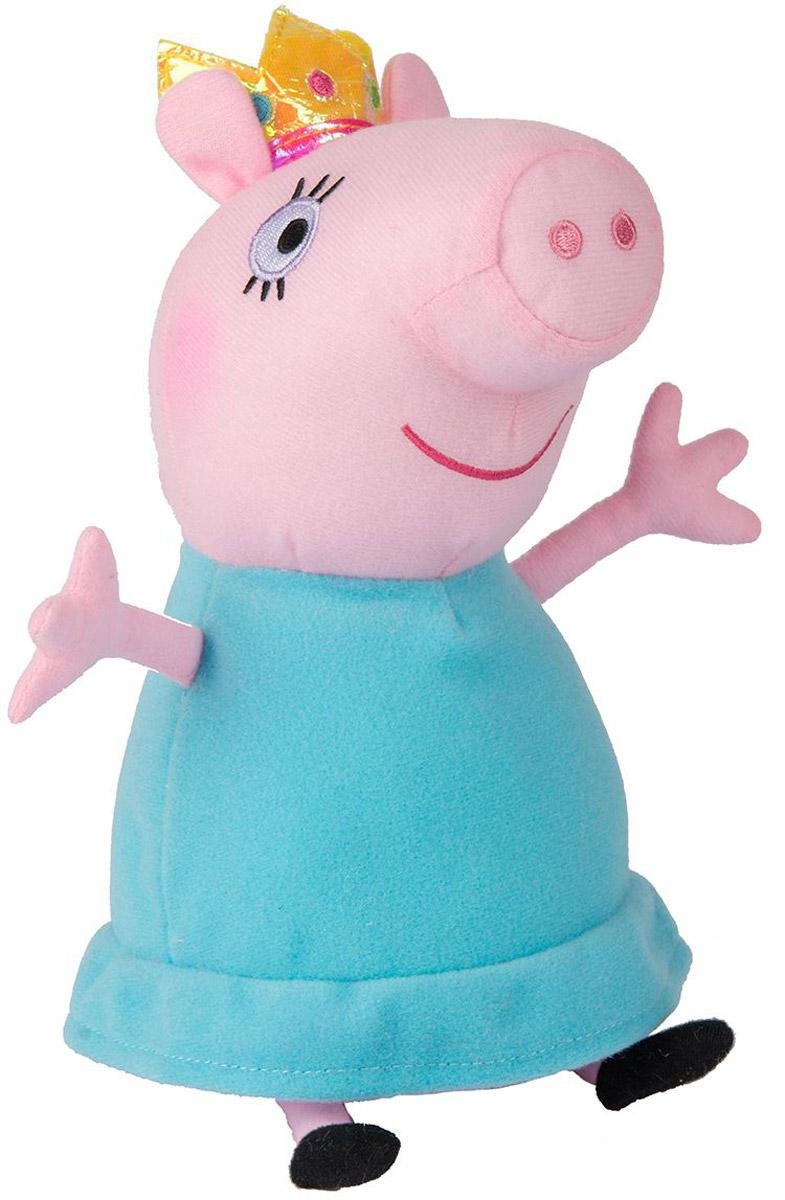 Peppa Pig Мягкая игрушка Мама Свинка-королева 30 см31153Мягкая игрушка Peppa Pig Мама Свинка-королева изготовлена в виде одного из персонажей популярного детского мультипликационного сериала Свинка Пеппа. На самом деле семья свинки Пеппы не является королевской, но дизайнеры этой игрушки решили представить маму Пеппы в образе доброй королевы, чтобы еще больше подчеркнуть сказочность мультипликационного сюжета и его персонажей. Это необычное художественное решение сможет еще больше порадовать ребенка, ведь тематика сказочных королей не менее интересна, чем сюжет мультфильма. Мама-королева выглядит очень мило и даже трогательно. Художники смогли передать доброту и материнскую нежность даже в простых нарисованных чертах игрушечного лица. А мягкие цвета этой игрушки смогут приятно порадовать детские глаза.