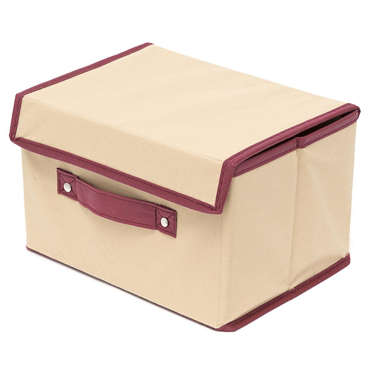Коробка для хранения Homsu Comfort, с крышкой, цвет: бежевый, 38 x 25 x 25 смHOM-682Универсальная коробочка для хранения любых вещей. Оптимальный размер позволяет хранить в ней любые вещи и предметы. Имеет жесткие борта, что является гарантией сохранности вещей. Размер изделия:38x25x25см