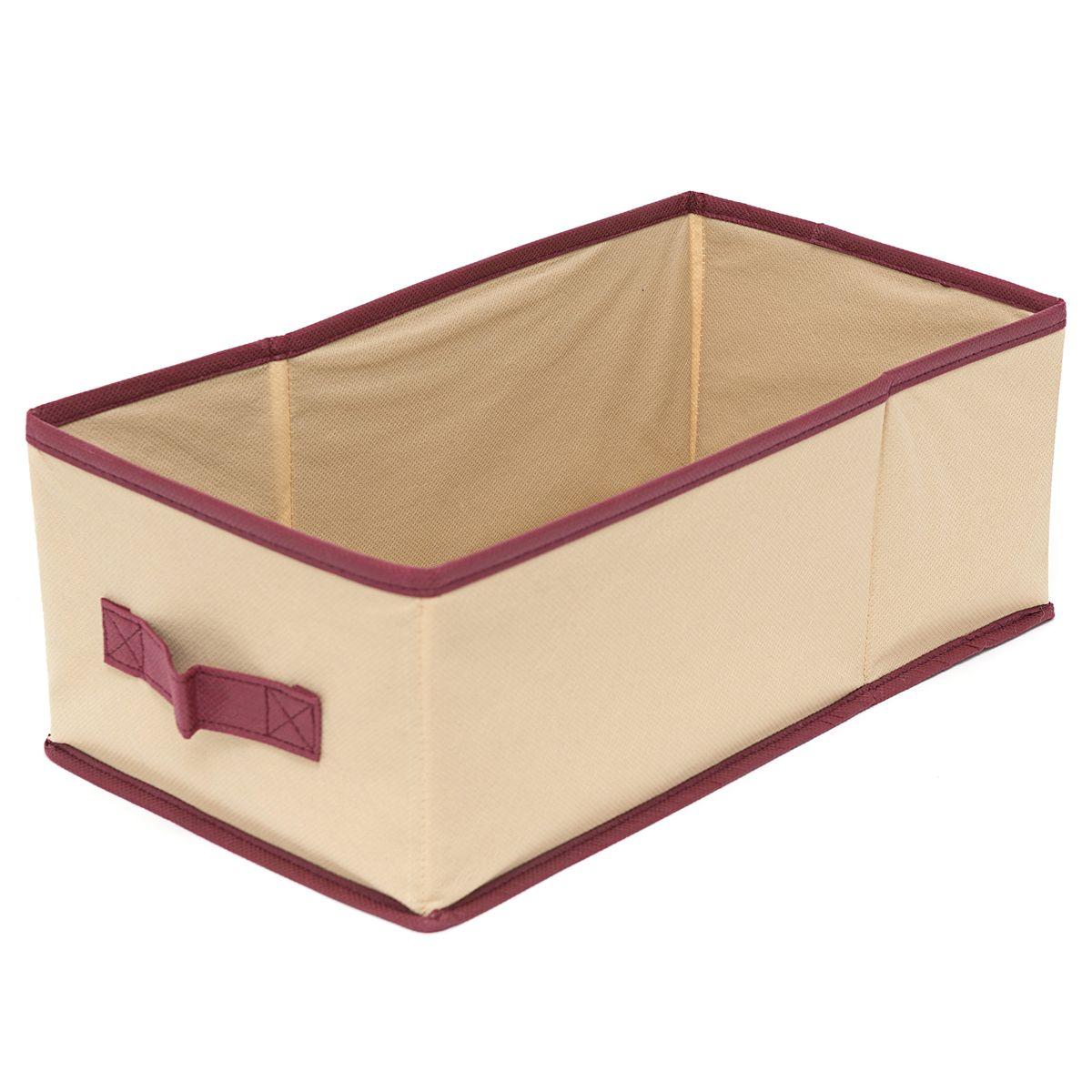 Ящик для хранения Homsu Comfort, с ручкой, цвет: бежевый, 37 x 20 x 14 смHOM-683Универсальная коробочка для хранения любых вещей. Оптимальный размер позволяет хранить в ней любые вещи и предметы. Имеет жесткие борта, что является гарантией сохранности вещей. Размер изделия:37x20x14см