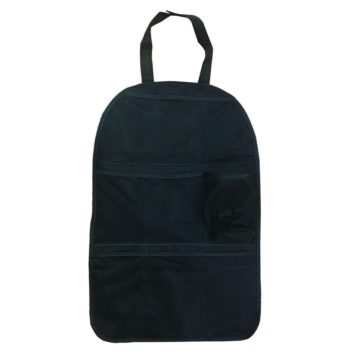 Органайзер Homsu, на спинку переднего сидения, цвет: черный, 25 x 42 см