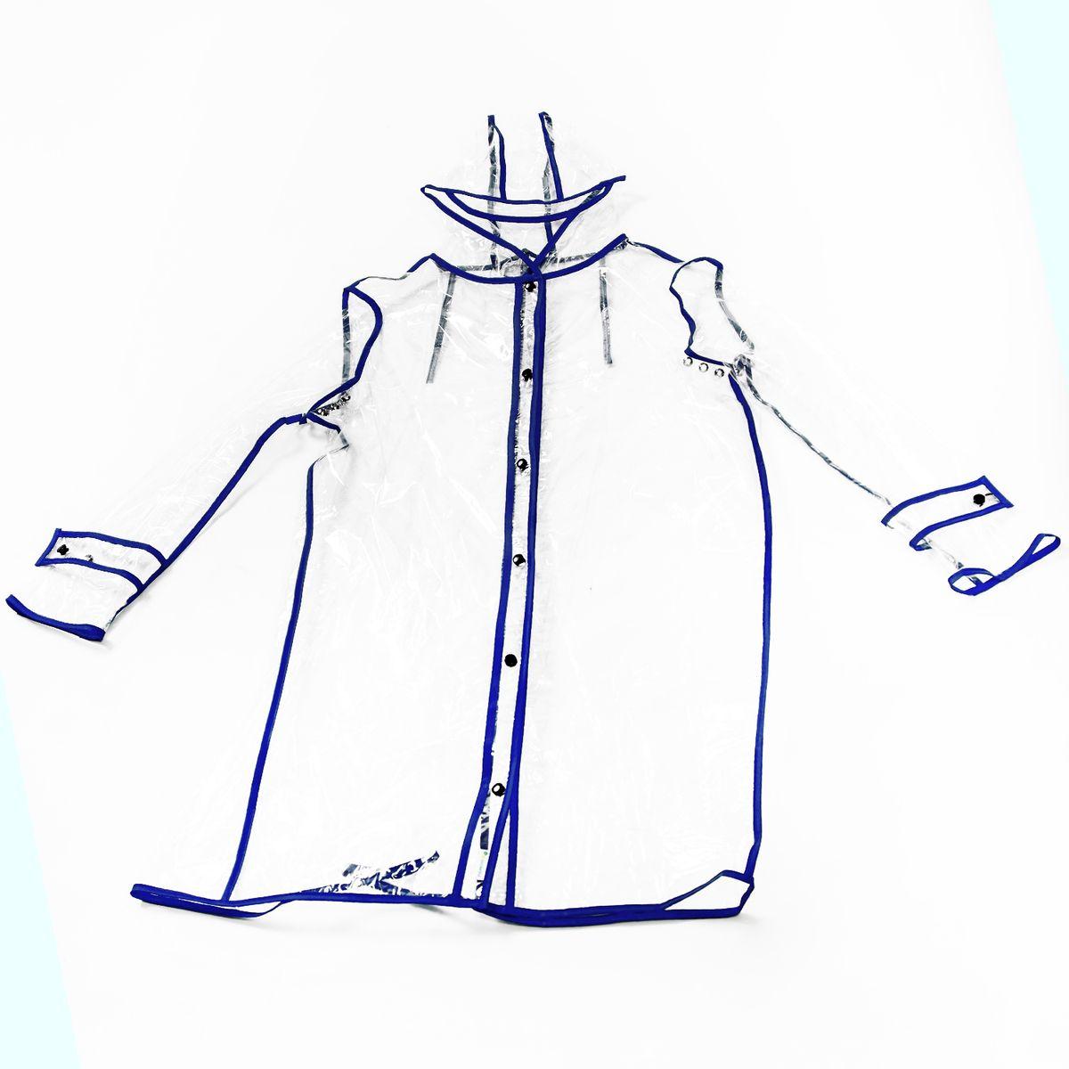 Дождевик женский Homsu, цвет: синий. Размер 44/50HOM-675Элегантный и практичный дождевик подчеркнет женственность любого вашего образа. Он изготовлен из высококачественного прозрачного пластика, дождевик очень легко сложить в небольшую сумочку, при надевании он быстро расправляется и уже через короткое время выглядит разглаженным. Фактический цвет может отличаться от заявленного. Размер изделия: 44/50