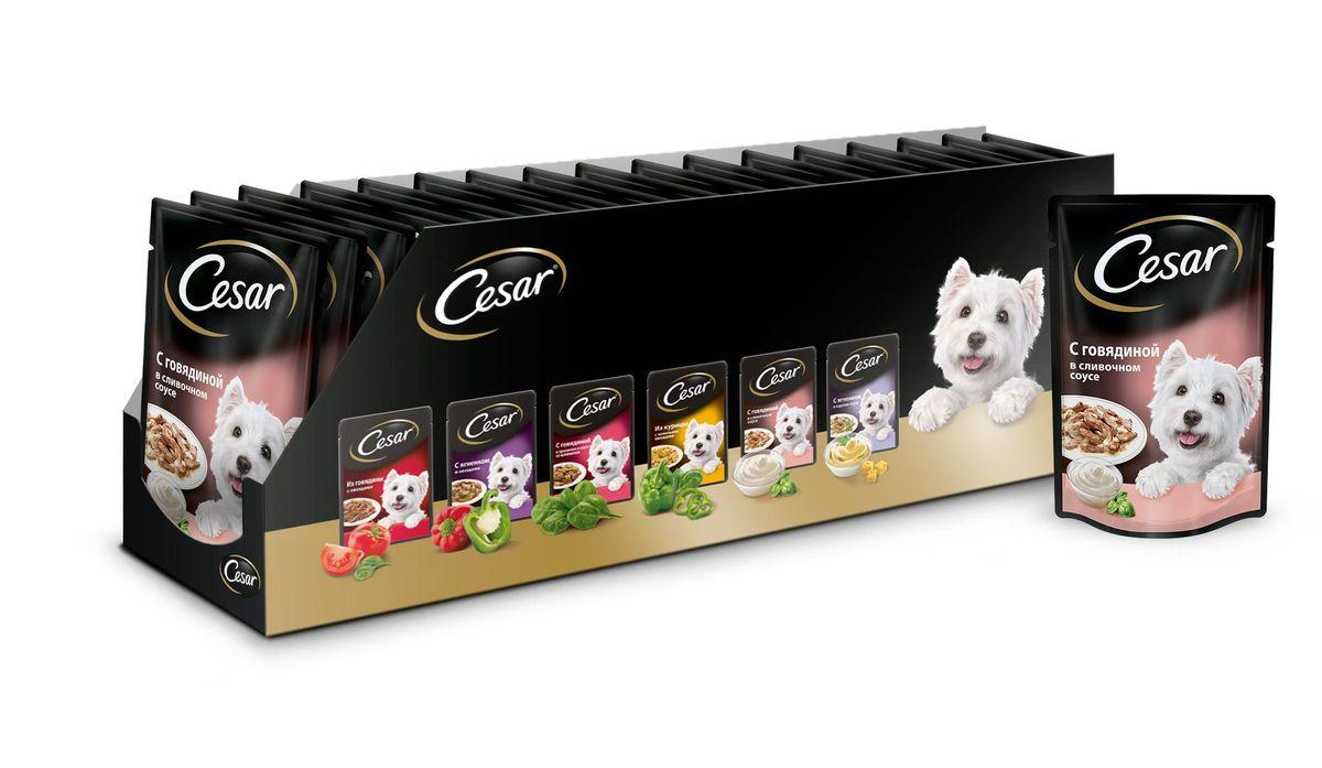 Консервы для собак Cesar, говядина в сливочном соусе, 100 г, 24 шт41835
