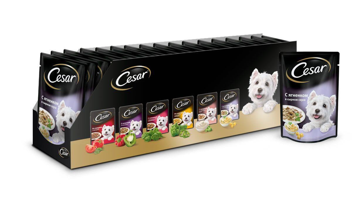Консервы для собак Cesar, ягненок в сырном соусе, 100 г, 24 шт41836