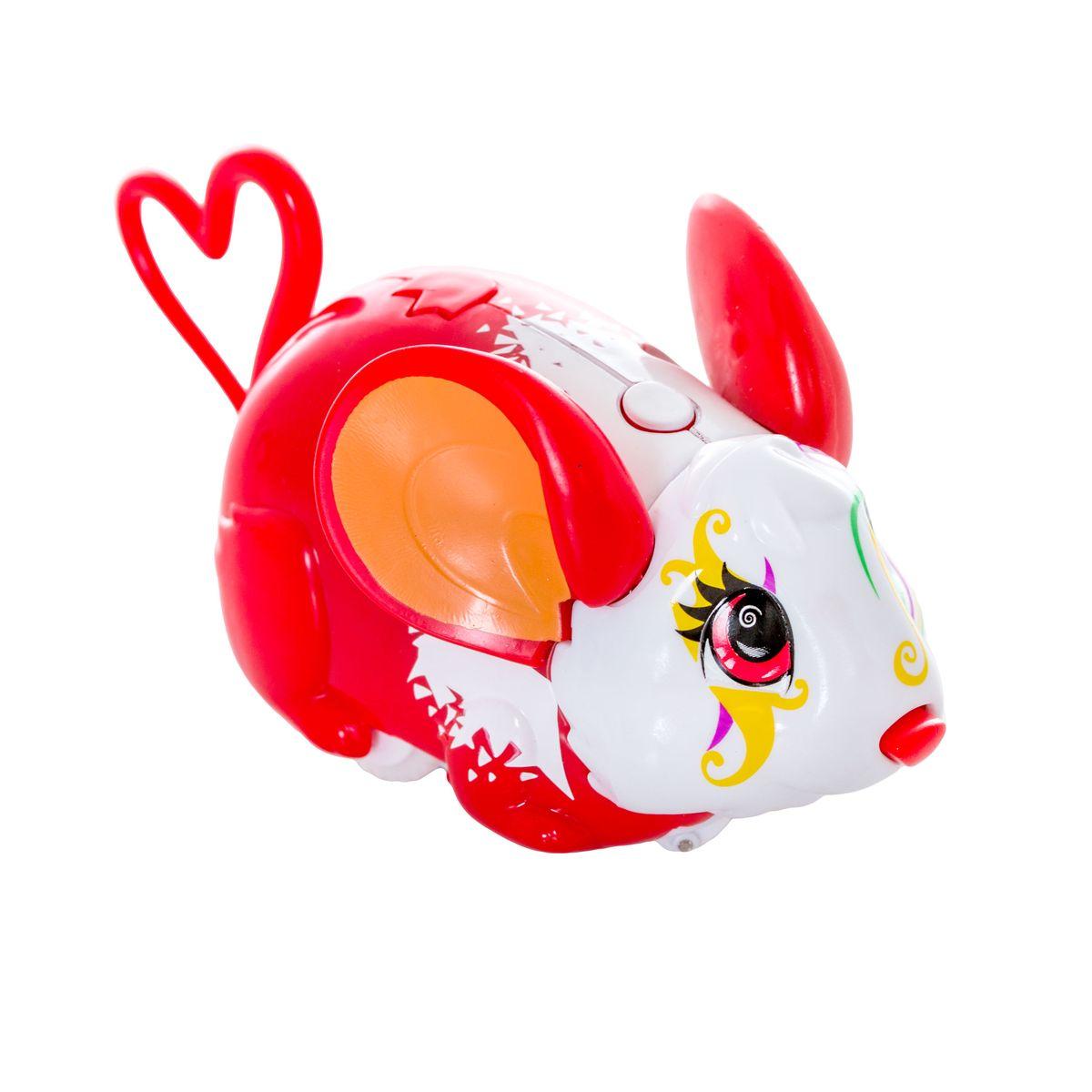 Amazing Zhus Интерактивная игрушка Мышка-циркач Алесса26304Amazing Zhus Мышка-циркач Алесса - это интерактивная игрушка, выполненная в виде цирковой мышки длиной 12 см. Игрушка имеет 3 игровых режима. При нажатии на кнопку на шее мышка начинает издавать забавные звуки каждые несколько секунд. При нажатии на кнопку на спине (режим исследования) мышка начинает изучать пространство, натыкаясь на препятствие, меняет направление и издает забавные звуки. При нажатии на нос - издает забавные звуки, а в режиме исследования нос используется как радар. В ассортименте есть множество цирковых аксессуаров для игры и фокусов. Очаровательная мышка понравится и детям, и взрослым! Для работы игрушки необходимы 2 батарейки типа ААА (товар комплектуется демонстрационными).