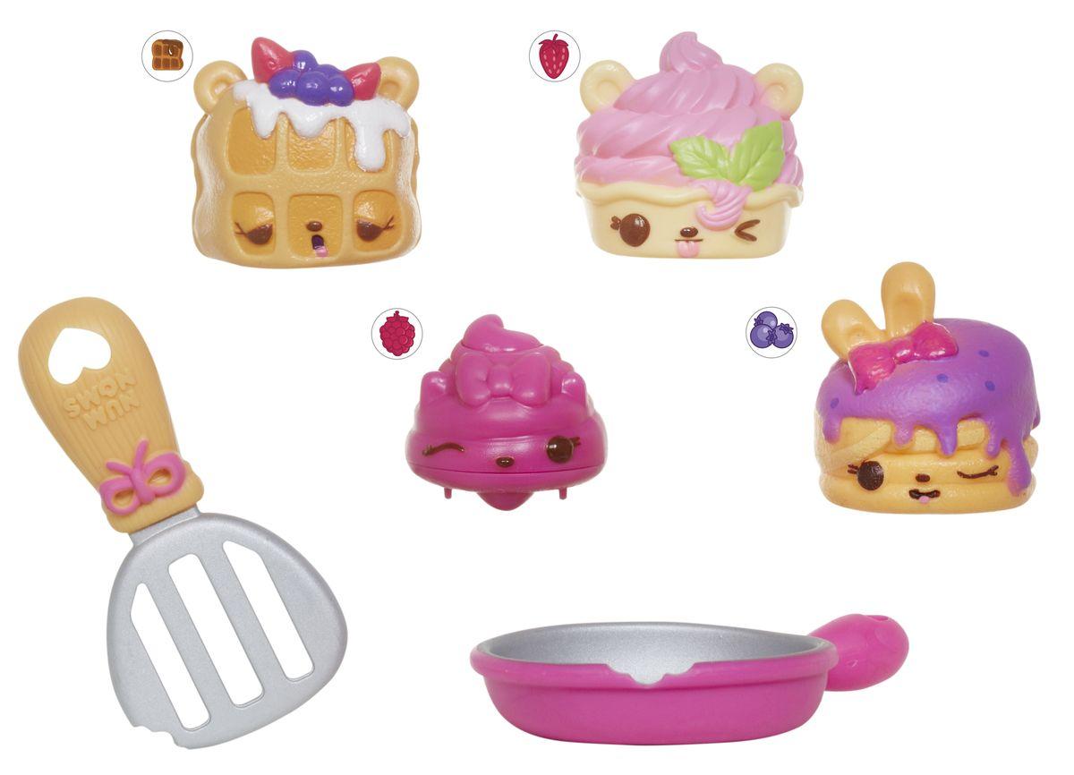 """Num Noms Набор фигурок, 4 шт544449В комплекте 3 """"шапочки"""" Num, 1 подвижная игрушка Nom, 1 контейнер, 1 ложечка/лопатка, плакат со всеми персонажами"""