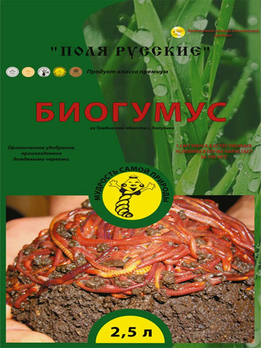 Удобрение Поля Русские Биогумус, 2,5 л0254Поля Русские Биогумус или вермикомпост (переработанный подстилочный навоз КРС дождевыми червями) является наилучшим органическим удобрением для почвы. Органические материалы проходят более полную переработку в желудке червей, подвергаются глубоким структурным изменениям, разлагаются до аминокислот, обогащаются чрезвычайно полезной микрофлорой из кишечника червей, ферментами, витаминами, другими биологически активными веществами, которые подавляют болезнетворную микрофлору. При этом органическая масса теряет запах, обеззараживается, приобретает гранулярную форму и приятный запах земли.Биогумус превосходит навоз и компосты по содержанию гумуса в 4-8 раз. Он содержит большое количество ферментов, витаминов, почвенных антибиотиков, гормонов роста растений и других биологически активных веществ. Продолжительность действия биогумуса более 5 лет. В отличие от навоза биогумус не обладает инертностью - растения реагируют сразу на него. При использовании биогумуса вегетационный период у...