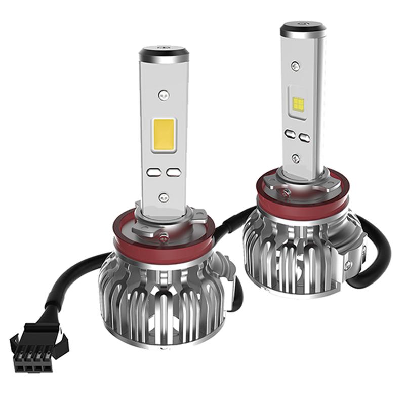 Лампа автомобильная светодиодная Clearlight, цоколь H11, 4300 Лм, 2 штCLLED43H11Светодиодная LED лампы Clearlight предназначены для установки в фары ближнего, дальнего и противотуманного света. Основные преимущества: Большая величина светового потока (более 2000 лм) позволяет лучше осветить дорогу и другие объекты, находящиеся перед автомобилем Незначительное энергопотребление (20–30 Вт) снижает нагрузку на генератор и аккумулятор Отсутствие стеклянной колбы и нити накаливания делает их более устойчивыми к ударам и вибрациям Длительный срок службы (до 30 тысяч часов) позволяет реже задумываться о замене мгновенное включение и выключение обеспечивает удобство использования