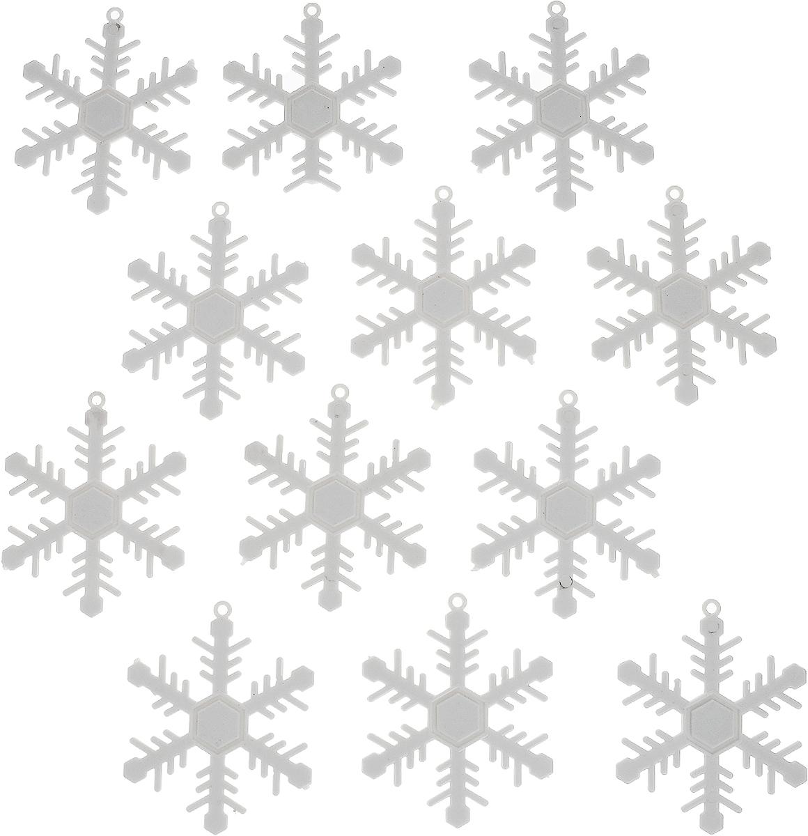 Украшение новогоднее подвесное Winter Wings Снежинки, диаметр 6,5 см, 12 штN181145Набор украшений Winter Wings Снежинки прекрасно подойдет для праздничного декора новогодней ели. Изделия выполнены из высококачественного пластика в виде снежинок. Для удобного размещения на елке на украшениях предусмотрены веревочки. Елочная игрушка - символ Нового года. Она несет в себе волшебство и красоту праздника. Создайте в своем доме атмосферу веселья и радости, украшая новогоднюю елку нарядными игрушками, которые будут из года в год накапливать теплоту воспоминаний. Откройте для себя удивительный мир сказок и грез. Почувствуйте волшебные минуты ожидания праздника, создайте новогоднее настроение вашим дорогим и близким.