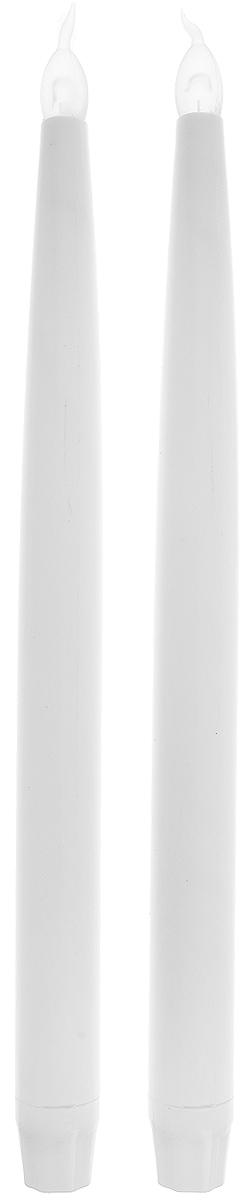 Набор свечей Winter Wings LED, высота 27 см, 2 штN161727Набор Winter Wings Led состоит из 2 декоративных свечей. Изделия выполнены из пластика. Такой набор можно использовать в декоре интерьера. Такие свечи Winter Wings создают имитацию обычных свечей. Они безопасны в использовании, не оставляют никаких пятен от воска и дыма, а также исключают вероятность возникновения пожара. Благодаря этому набору ваши праздники и будни окрасятся в новые цвета, а ваши дети будут засыпать, не боясь темноты.