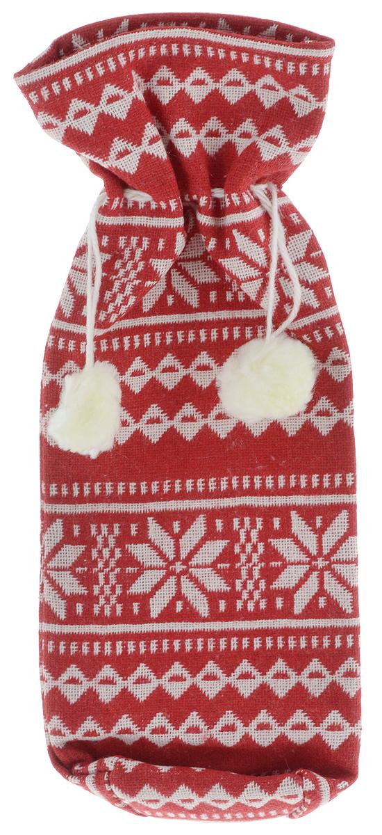 Мешок подарочный для бутылки Winter Wings Норвежские узоры, 7 х 7 х 35 смN02305/КРБЕЛНовогодний мешок на кулиске Winter Wings Норвежские узоры, выполненный из полиэстера, украшен оригинальным рисунком и помпонами. Этот аксессуар предназначен специально для красивого оформления бутылки или служит дополнительным элементом для подарка. Размер мешка: 7 х 7 х 35 см.