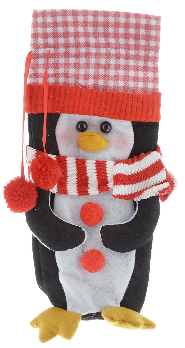 Мешок подарочный для бутылки Winter Wings Пингвин, 13 х 28 смN02315Новогодний мешок на кулиске Winter Wings Пингвин, выполненный из полиэстера, в виде пингвина с помпонами. Этот аксессуар предназначен специально для красивого оформления бутылки или служит дополнительным элементом для подарка. Размер мешка: 13 х 28 см.