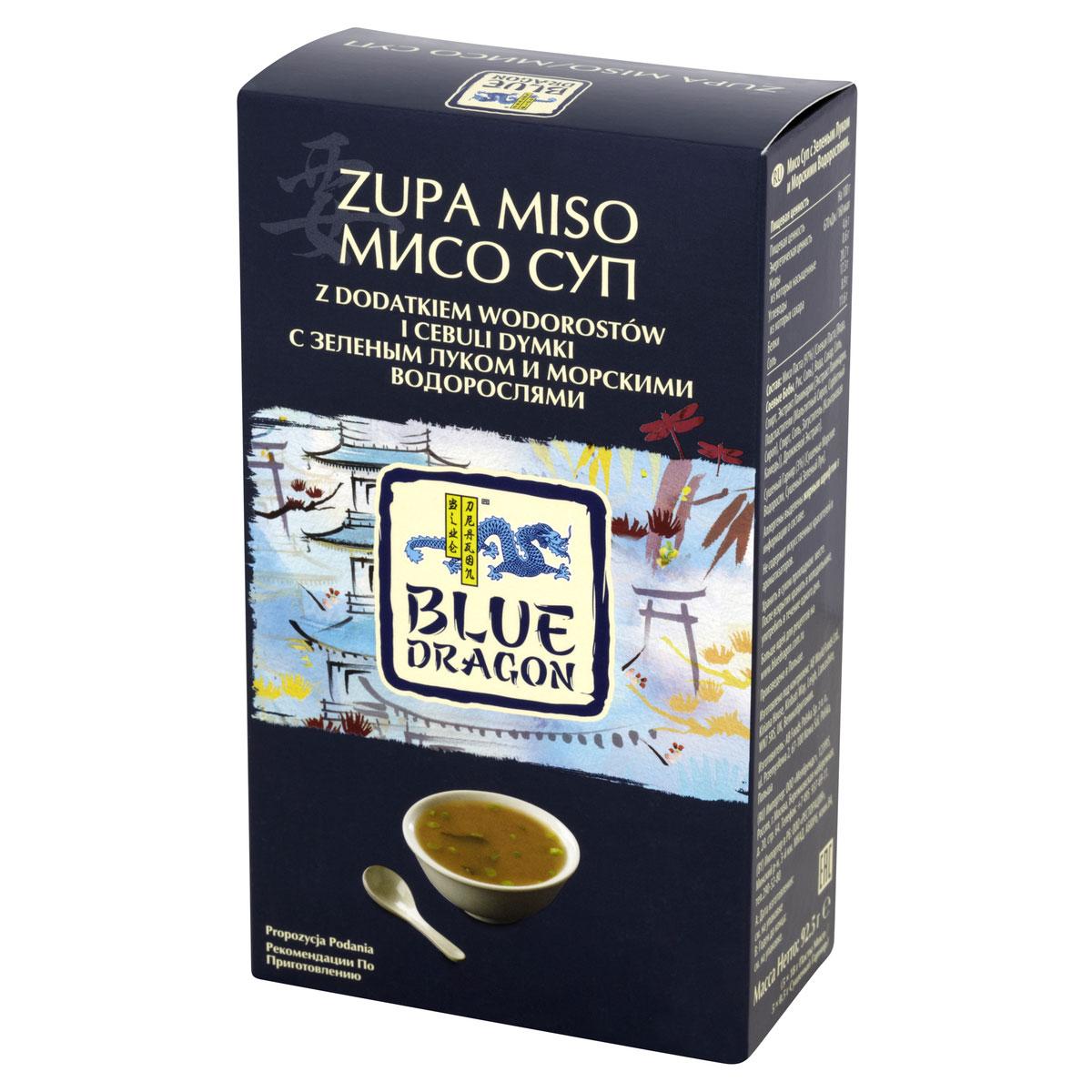 Blue Dragon Мисо суп с зеленым луком и морскими водорослями, 92,5 г030055Не содержит искусственных красителей и ароматизаторов. Вскипятите 160 мл воды, разведите пакетик с быстрорастворимым супом Мисо и пакетик с тофу и морским водорослями, хорошо перемешайте.