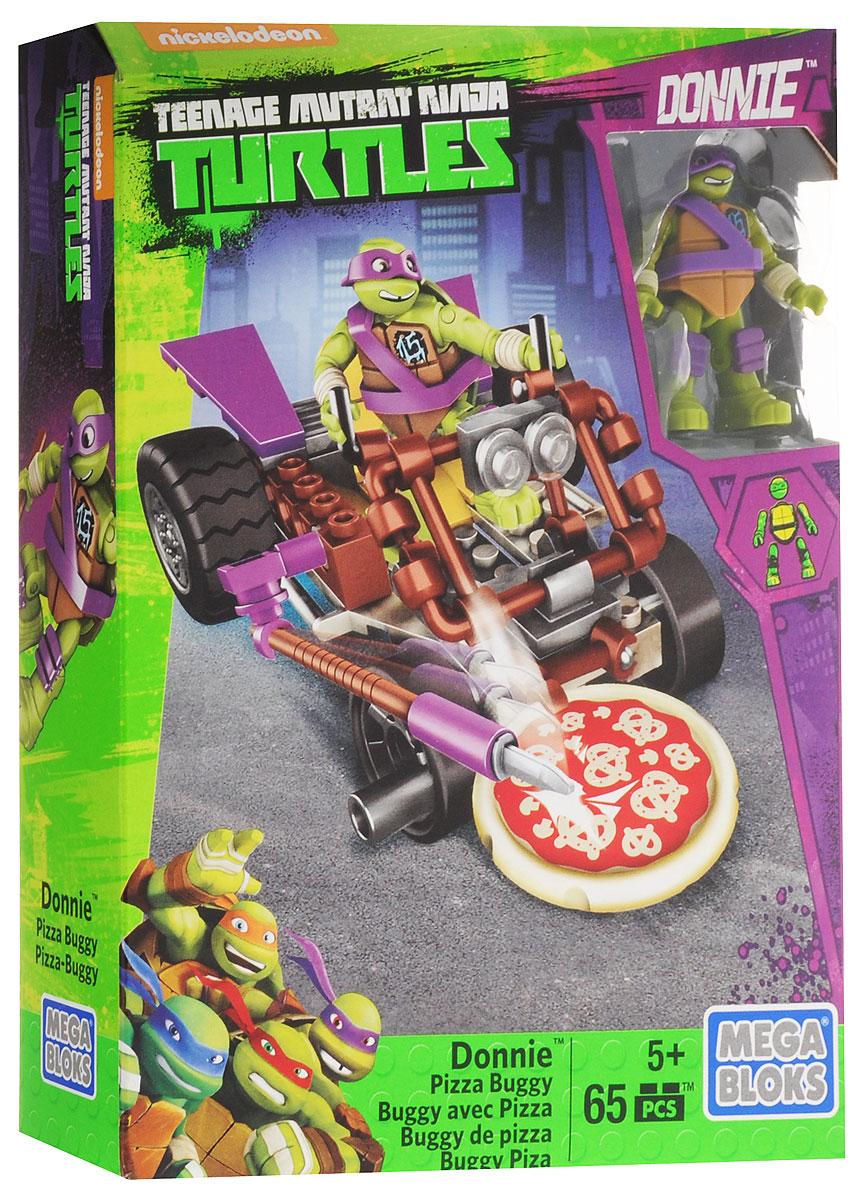 Mega Bloks Черепашки Ниндзя Конструктор Пицца-мобиль ДонниDMX36_DMX37Когда Донателло не занят в своей мастерской строительством новых машин, он тестирует их на поверхности. И на этот раз он выезжает в стиле ниндзя на Пицца-мобиле Донни от Mega Bloks. Черепашки-Ниндзя! Соберите эту гоночную машину в стиле карта и посадите Донни на сиденье водителя, чтобы провести тест-драйв на высокой скорости. Благодаря ножу для пиццы со стороны водителя, вам не придется отправляться на заправку, чтобы перекусить, если проголодаетесь! Просто продолжайте катиться, чтобы активировать лезвие и резать пиццу, пока едете! Объедините с другими автомобилями из серии Меgа Bloks. Черепашки-Ниндзя (продаются отдельно) и соберите патрульный багги! Набор включает в себя 65 разноцветных пластиковых элементов. Конструктор - это один из самых увлекательных и веселых способов времяпрепровождения. Ребенок сможет часами играть с конструктором, придумывая различные ситуации и истории.