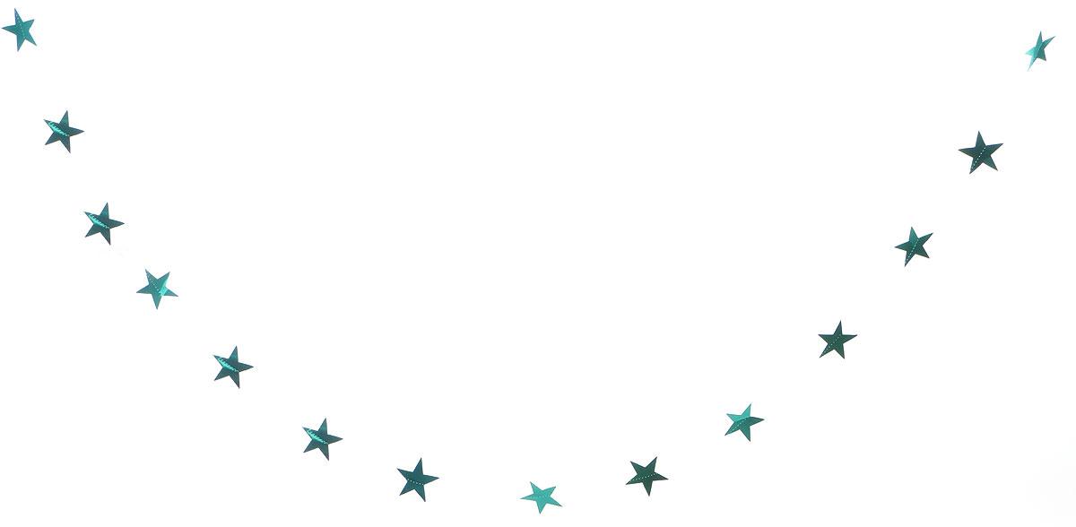 Гирлянда декоративная Winter Wings Звездочки, цвет: бирюзовый, 8 см х 2,7 мN09163_бирюзовыйНовогодняя декоративная растяжка Winter Wings Звездочки прекрасно подойдет для декора дома и праздничной елки. Украшение выполнено из ПВХ. С помощью пластиковых колец растяжку можно повесить в любом понравившемся вам месте. Новогодние украшения несут в себе волшебство и красоту праздника. Они помогут вам украсить дом к предстоящим праздникам и оживить интерьер по вашему вкусу. Создайте в доме атмосферу тепла, веселья и радости, украшая его всей семьей.