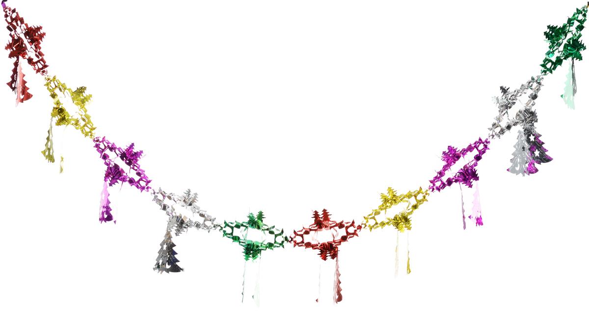 Гирлянда новогодняя Magic Time Елочки со снежинкой цветные, 35 x 21 x 200 см42112Новогодняя гирлянда Magic Time Елочки со снежинкой цветные прекрасно подойдет для декора дома и праздничной елки. Украшение выполнено из ПЭТ. С помощью специальной петельки гирлянду можно повесить в любом понравившемся вам месте. Легко складывается и раскладывается. Новогодние украшения несут в себе волшебство и красоту праздника. Они помогут вам украсить дом к предстоящим праздникам и оживить интерьер по вашему вкусу. Создайте в доме атмосферу тепла, веселья и радости, украшая его всей семьей.