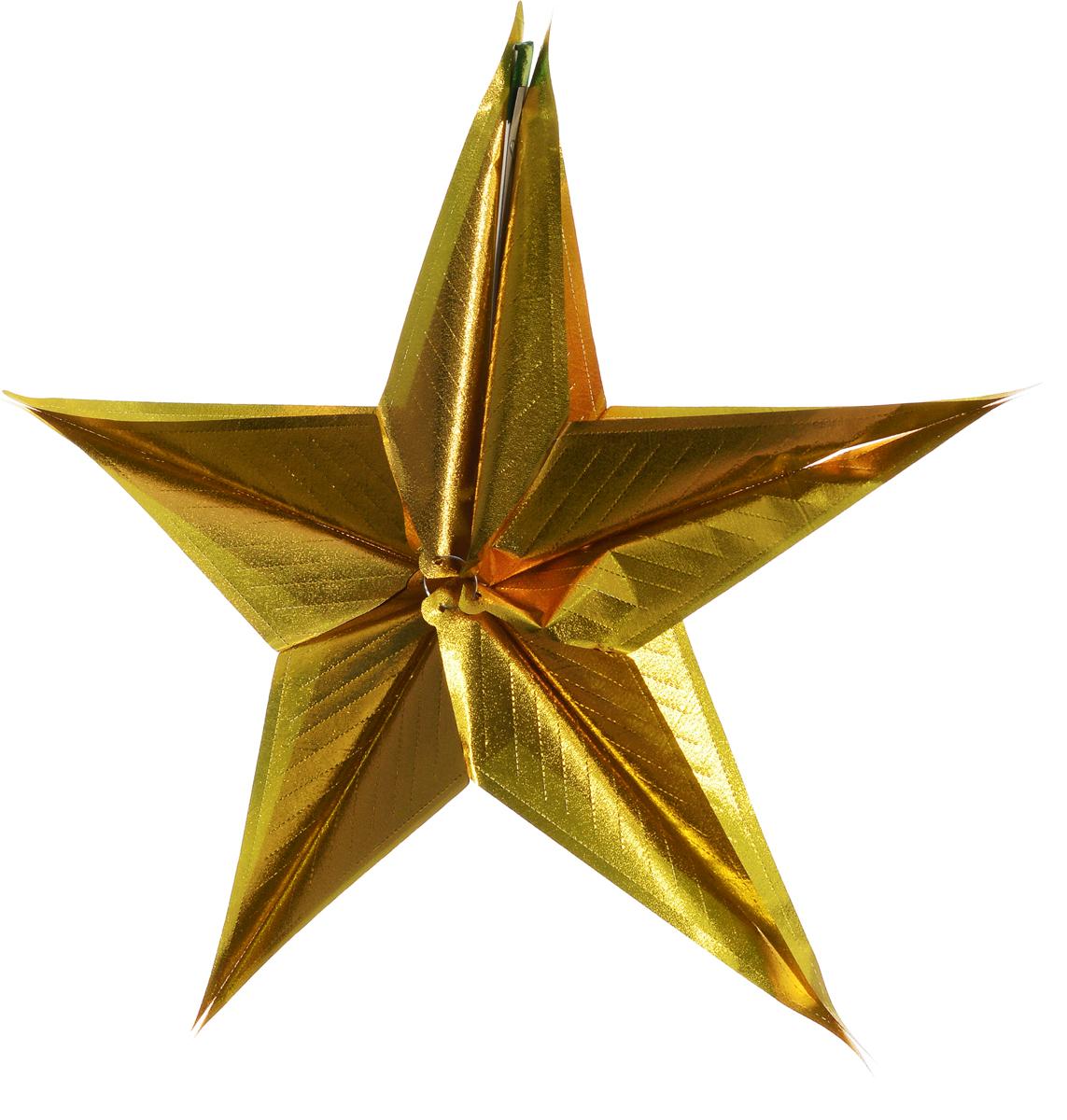 Гирлянда новогодняя Magic Time Звезда большая золотая, 17 x 32 см42119Новогодняя гирлянда Magic Time Звезда большая золотая прекрасно подойдет для декора дома и праздничной ели. Украшение выполнено из ПЭТ. С помощью специальной петельки гирлянду можно повесить в любом понравившемся вам месте. Легко складывается и раскладывается. Новогодние украшения несут в себе волшебство и красоту праздника. Они помогут вам украсить дом к предстоящим праздникам и оживить интерьер по вашему вкусу. Создайте в доме атмосферу тепла, веселья и радости, украшая его всей семьей.
