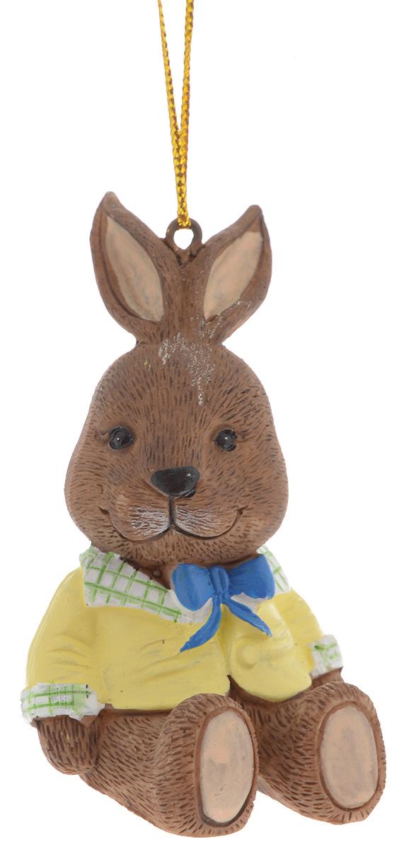 Украшение новогоднее подвесное Magic Time Зайчик в пиджаке, 5 х 4,5 х 7 см39248Новогоднее подвесное украшение Magic Time Зайчик в пиджаке выполнено из полирезины в виде зайца. С помощью специальной петельки украшение можно повесить в любом понравившемся вам месте. Но, конечно, удачнее всего оно будет смотреться на праздничной елке. Елочная игрушка - символ Нового года. Она несет в себе волшебство и красоту праздника. Создайте в своем доме атмосферу веселья и радости, украшая новогоднюю елку нарядными игрушками, которые будут из года в год накапливать теплоту воспоминаний.
