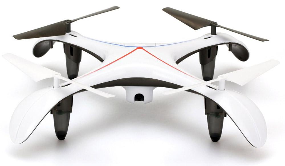 Silverlit Квадрокоптер на радиоуправлении Xcelsior FPV84747Квадрокоптер Silverlit Xcelsior FPV с четырехканальным радиоуправлением и видеокамерой - это великолепный летающий дрон, который позволит взглянуть на мир с высоты птичьего полета как ребенку, так и взрослому. Управление квадрокоптером осуществляется при помощи удобного пульта. Пульт управления работает на частоте 2,4 GHz, с движением камеры вниз и вверх на 90 градусов. Квадрокоптер может также поворачивать налево-направо, летать в стороны, вперед и назад, а также поворачиваться на 360 градусов. Модель имеет встроенную камеру, с помощью которой вы сможете осуществлять фото- и видеосъемку. Качество съемки 720p (HD). Использовать квадрокоптер можно в закрытых помещениях или на улице в сухую и безветренную погоду. Радиоуправляемые игрушки развивают многочисленные способности ребенка - мелкую моторику, пространственное мышление, реакцию и логику. Квадрокоптер работает от встроенного аккумулятора, который заряжается с помощью USB-кабеля (входит в...