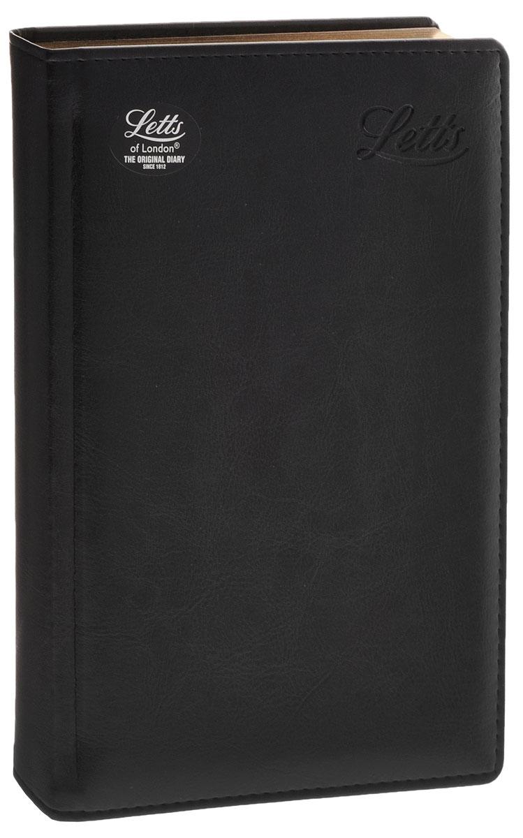 Letts Ежедневник Umbria недатированный 200 листов цвет черный412141310, 822962Прочный ежедневник Letts Umbria идеально подойдёт тем, кто ценит настоящую английскую классику. Ежедневник выполнен в твердом переплете из искусственной кожи, которую сложно отличить от натуральной. Позолоченный срез страниц, шелковая закладка-разделитель и перфорированные уголки подчеркнут респектабельный стиль владельца. Каждая страница ежедневника имеет почасовое деление. На каждый час отведено по 2 строчки, а в боковой части страницы находятся строчки для телефонных и почтовых заметок. На первых страницах ежедневника представлены место для заполнения личных данных владельца и информационный блок. Он включает национальные праздники Российской Федерации, меры длины, веса и других величин, размеры одежды, международные коды, часовые пояса и календарь с 2016 по 2023 год. В конце ежедневника представлены телефонная книга и фрагменты цветной карты мира. Ежедневники Letts Umbria - это высочайшее качество, простота, удобство и функциональность.