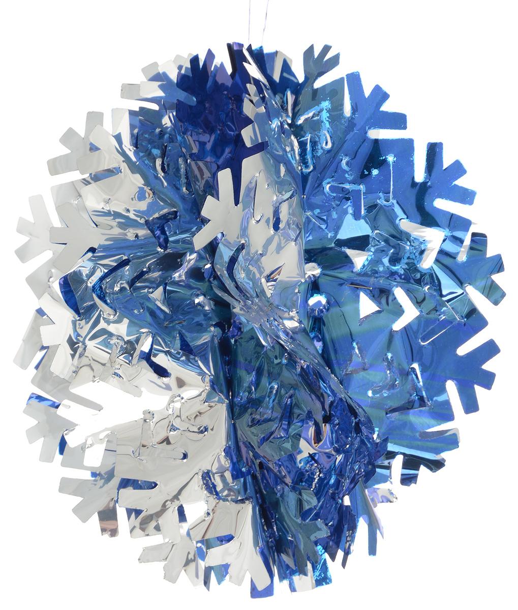 Гирлянда новогодняя Magic Time Снежинка объемная цветная, 20 х 10 см30962Новогодняя гирлянда Magic Time Снежинка объемная цветная прекрасно подойдет для декора дома и праздничной елки. Украшение выполнено из ПЭТ. С помощью специальной петельки гирлянду можно повесить в любом понравившемся вам месте. Легко складывается и раскладывается. Новогодние украшения несут в себе волшебство и красоту праздника. Они помогут вам украсить дом к предстоящим праздникам и оживить интерьер по вашему вкусу. Создайте в доме атмосферу тепла, веселья и радости, украшая его всей семьей.