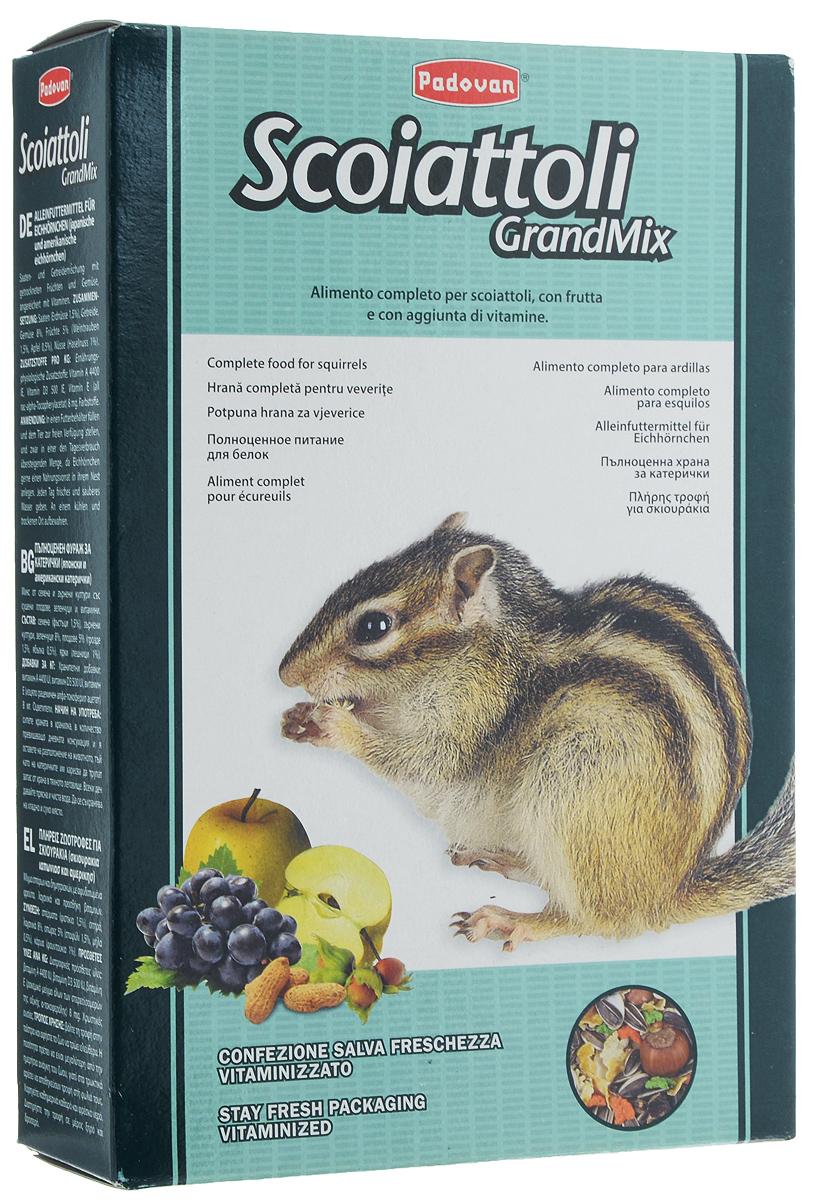 Корм Padovan Grandmix Scoiattoli для белок, 750 г16826Комплексный, высококачественный основной корм Padovan Grandmix Scoiattoli подходит для белок. Корм обогащен фруктами и овощами, витаминами и минералами. Padovan Grandmix Scoiattoli для шустрых грызунов с высоким содержанием углеводов, обеспечит ваших любимцев необходимым запасом энергии и удовлетворит их потребности в движении и играх. Товар сертифицирован.