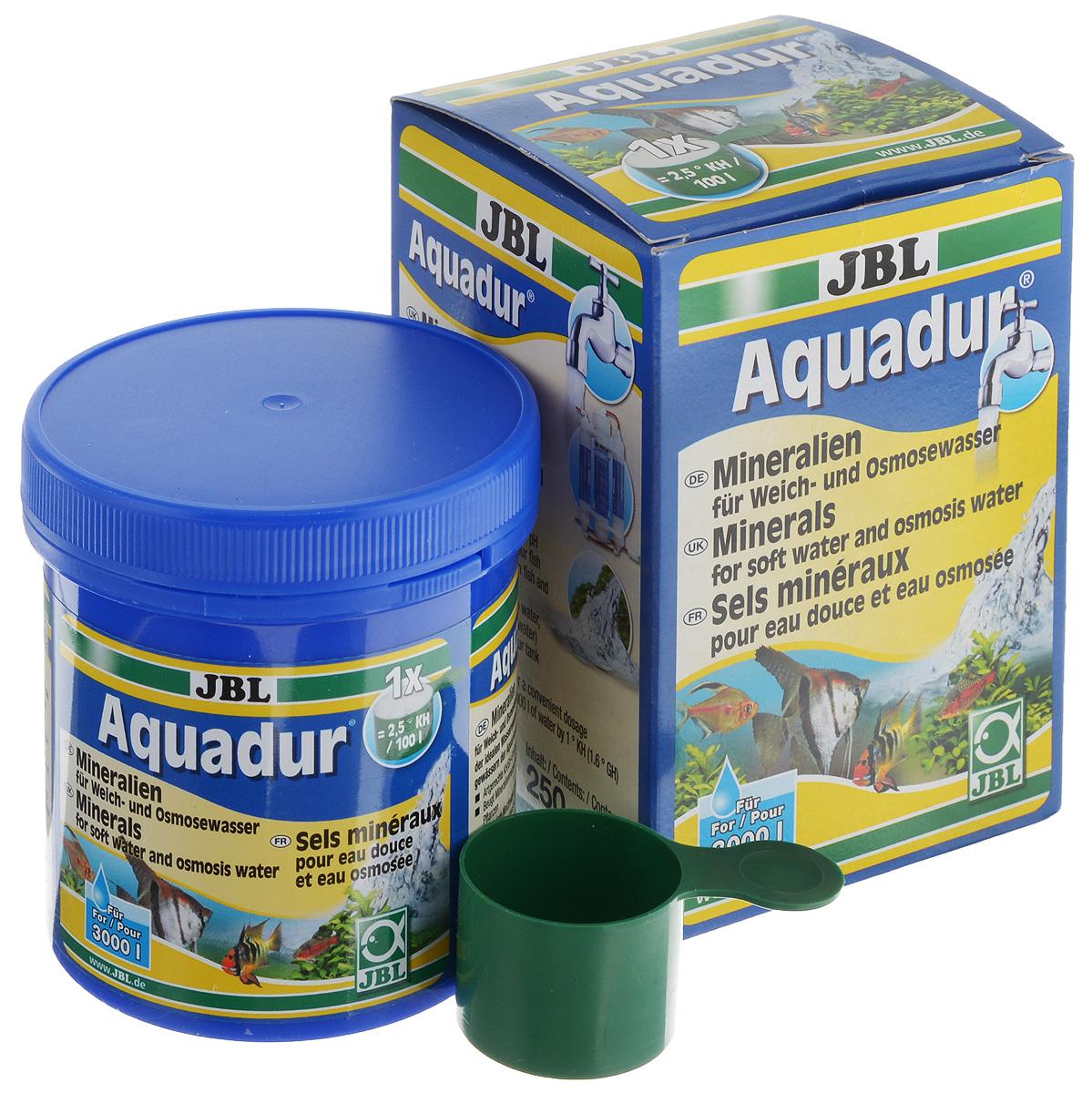 Набор минеральных солей JBL Aquadur, для увеличения KH и стабилизации pH, с мерной ложкой, 250 гJBL2490200JBL Aquadur - это смесь минералов, которая содержит вещества, выравнивающие как карбонатную, так и общую жесткость воды. Состав смеси ориентируется на распределение ионов во многих тропических водоемах. JBL Aquadur отлично подходит для надежного повышения карбонатной и общей жесткости воды любой степени мягкости. Тем самым повышается буферная емкость, что стабилизирует значение ph и предотвращает его падение до опасного уровня. Другие микроэлементы, незаменимые прежде всего для микроорганизмов, важных для аквариума, превращают мягкую воду, подготовленную с помощью средства JBL Aquadur, в идеальную исходную воду для содержания и разведения всех видов аквариумных рыб. Набор рассчитан на 3000 л аквариумной воды. В комплект входит мерная ложка. Товар сертифицирован.